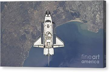 Flying Above The Atlantic Coast Canvas Print by Stocktrek Images