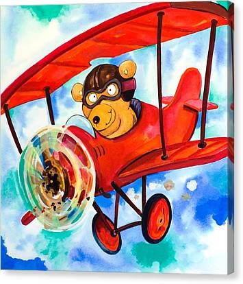 Scott Nelson Canvas Print - Flying Bear by Scott Nelson