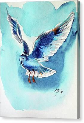 Flying Bird Canvas Print by Kovacs Anna Brigitta
