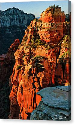 Flying Buttress 06-034 Canvas Print