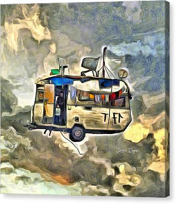 Moving Canvas Print - Flying Caravan by Leonardo Digenio