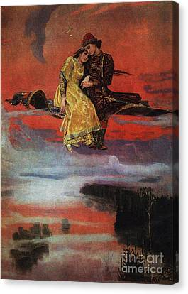 Flying Carpet Canvas Print by Victor Mikhailovich Vasnetsov