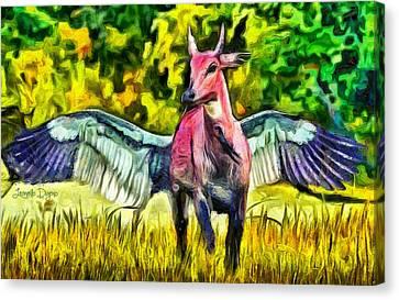 Flying Cow - Da Canvas Print by Leonardo Digenio