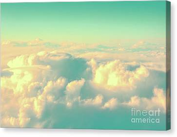 Canvas Print featuring the photograph Flying by Delphimages Photo Creations