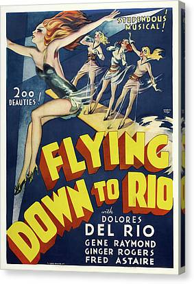 Flying Down To Rio 1933 Canvas Print by Mountain Dreams