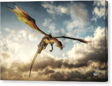 Flying Dragon, Death From Above Canvas Print