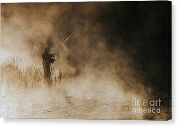 Canvas Print featuring the photograph Flying Fishing by Iris Greenwell