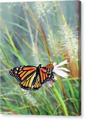 Flying Flower Canvas Print by Betty LaRue