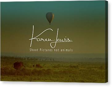 Canvas Print featuring the photograph Flying High On The Masai Mara by Karen Lewis