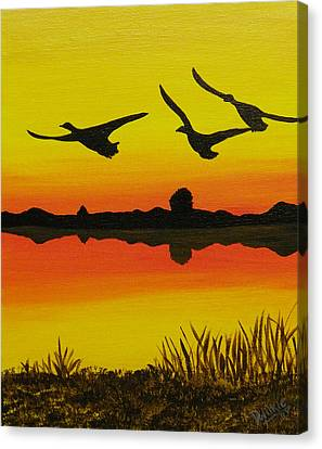 Flying Home Canvas Print by Doug Wilkie