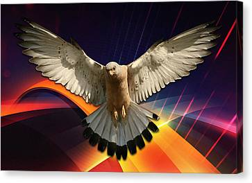 Eagle Canvas Print - Flying In A Abstract Dream by Marvin Blaine