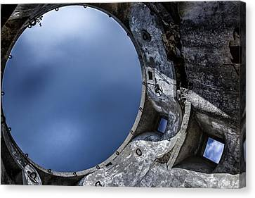 Canvas Print featuring the photograph Flying In A Spaceship Concrete by Edgar Laureano