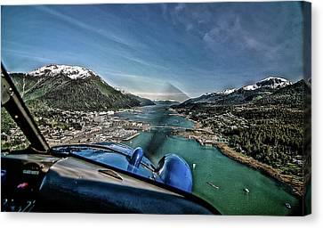 Flying Into Juneau Canvas Print