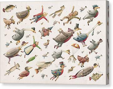 Flying Canvas Print by Kestutis Kasparavicius