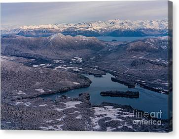 Flying Over Southeast Alaska Canvas Print by Mike Reid