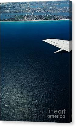 Salt Air Canvas Print - Flying Over The Coast 5 by Micah May