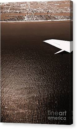 Salt Air Canvas Print - Flying Over The Coast 6 by Micah May