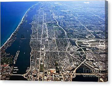 Salt Air Canvas Print - Flying Over The La Coast 1 by Micah May