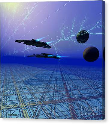 Flying Saucers Canvas Print by Corey Ford