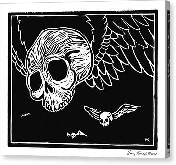 Flying Skulls Canvas Print