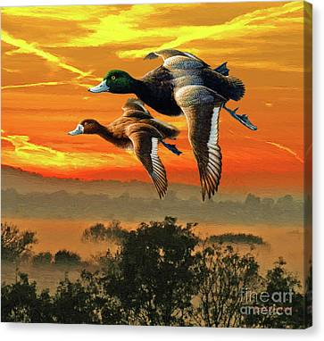 Flying South Canvas Print by Jerry L Barrett