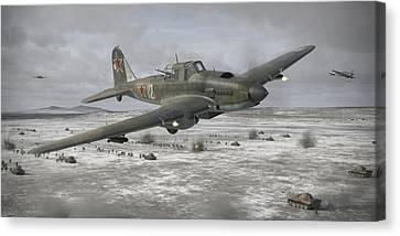 Flying Tank Canvas Print