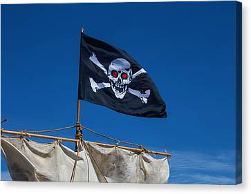 Flying The Black Flag Canvas Print by Garry Gay