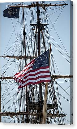 Canvas Print featuring the photograph Flying The Flags by Dale Kincaid