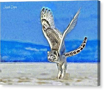 Extinct Canvas Print - Flying Tiger by Leonardo Digenio