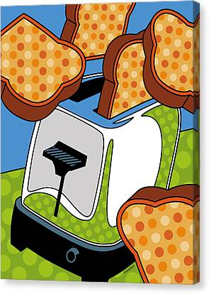 Flying Toast Canvas Print by Ron Magnes