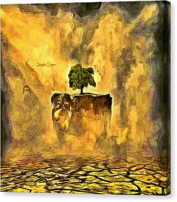 Flying Tree Canvas Print by Leonardo Digenio
