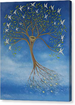 Flying Tree Canvas Print