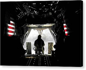 Flying With The Stars And Stripes In Afghanistan Canvas Print by Jetson Nguyen