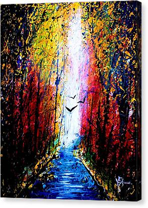 Flyinh High Over Kalamazoo River  Canvas Print by Artist Singh