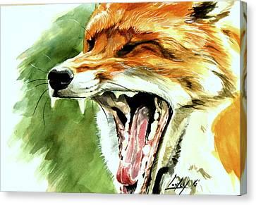 Flynn The Fox Canvas Print by Katharine Schafer