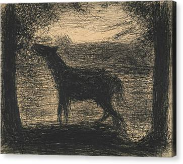 Seurat Canvas Print - Foal by Georges-Pierre Seurat