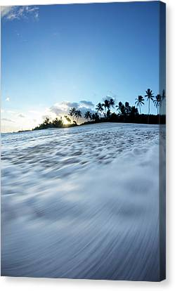 Foam Beach Canvas Print