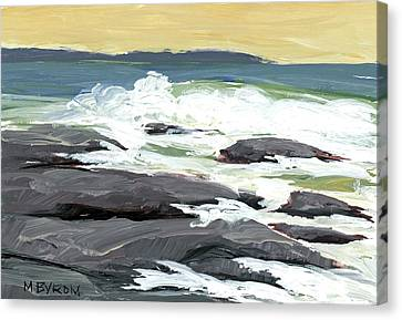 Foamy Billows Canvas Print by Mary Byrom