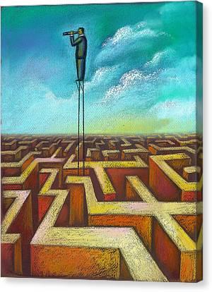 Focal Point Canvas Print by Leon Zernitsky