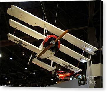 Focker Tri-plane Canvas Print by Tommy Anderson