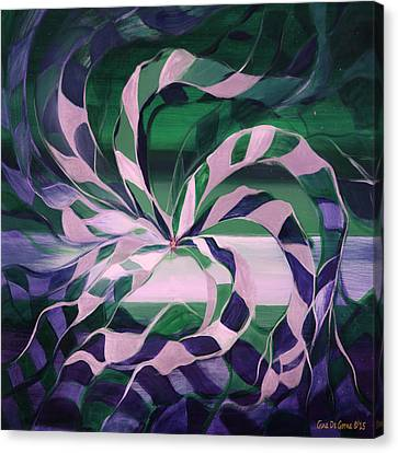 Focus - Abstract In Green And Blue Canvas Print