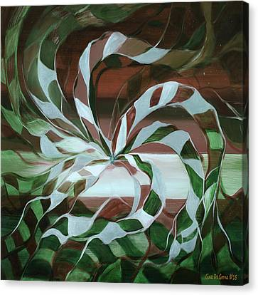 Focus - Abstract In Green And Red Canvas Print