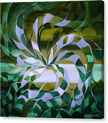 Focus - Abstract In Green And Yellow Canvas Print