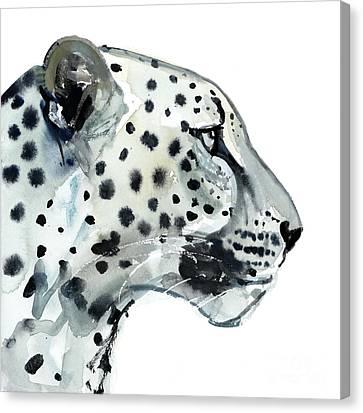 Leopard Canvas Print - Focus by Mark Adlington