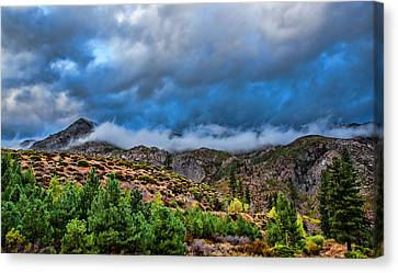 Fog And Stone Canvas Print by Ronald William Horne