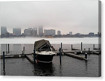Fog Cover On The Charles River Canvas Print by Toby McGuire