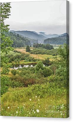 Canvas Print featuring the photograph Fog In The Adirondacks by Sue Smith