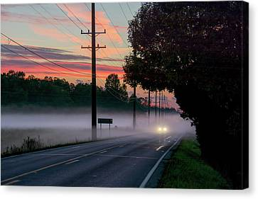 Southern Indiana Canvas Print - Fog In The Hollows by Wes Iversen