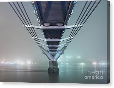 Fog - Millennium Bridge Canvas Print by Rod McLean