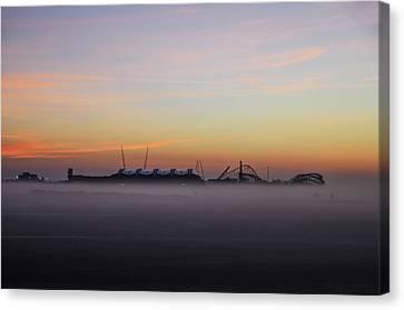 Fog On The Beach - Wildwood New Jersey Canvas Print